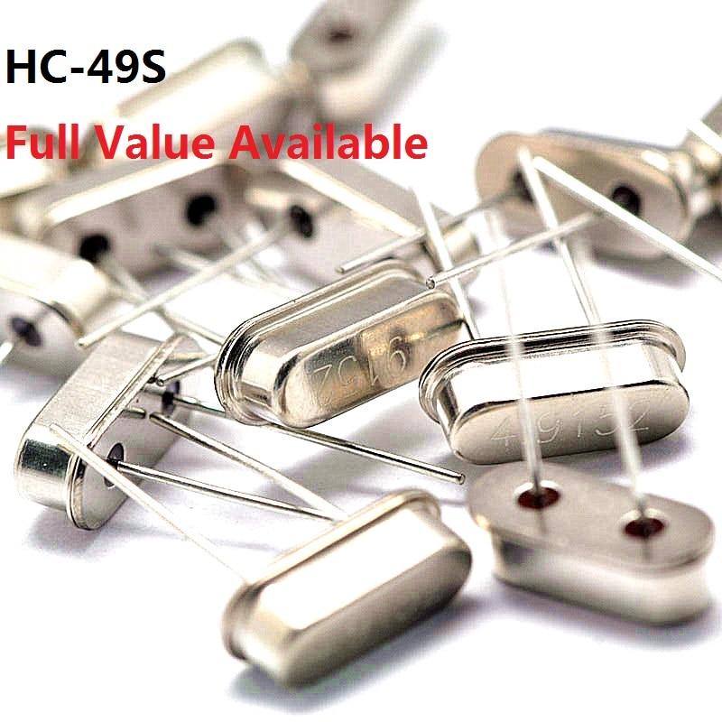 10PCS Passive Crystal Oscillator 4/4.096/4.433/4.9152/5/6/7.2/7.3728/8/8.192/10/10.245/11.0592/12/13.56/14.7456/15.000mhz/M/MHZ
