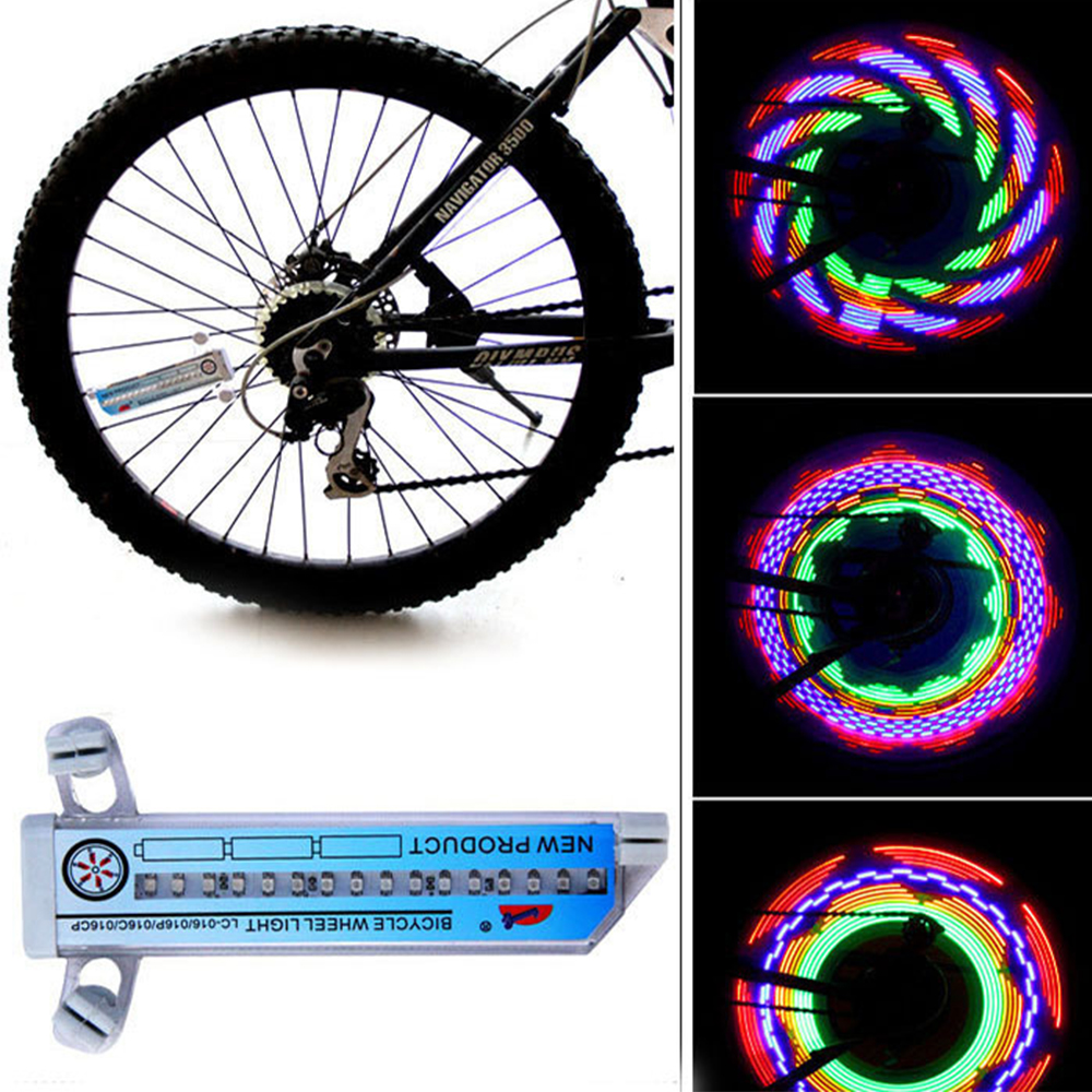Cycling Wheel Spoke Light Colorful Bicycle Motorcycle Lights Bike Waterproof New 32 LED Outdoor Lamp Cycling Accessories New Hot