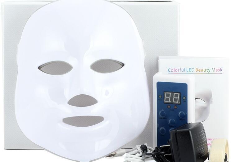 Masque de lumière avancé de sept couleurs, instrument photodynamique de rajeunissement, masque LED de puissance de photon bleu rouge, instrument de beauté, appel d'offres