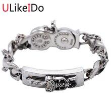 100% Pure 925 серебряный браслет модные панк ручной цепи для мужчин sprcial ювелирные браслеты подарок