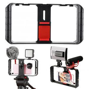 Image 4 - Ulanzi Smartphone Video Rig 3 Hot Shoe Mounts Filmmaken Case Stabilizer Frame Stand Telefoon Houder Voor Samsung Iphone Huawei