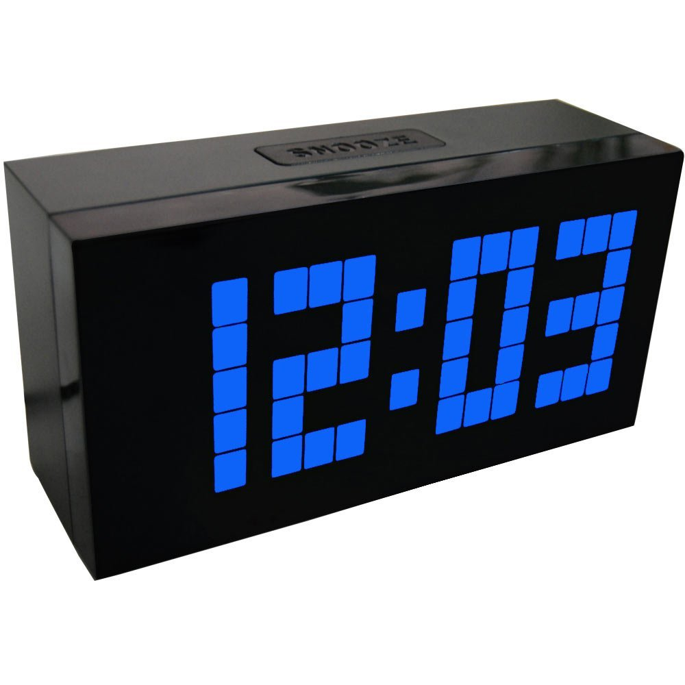 Digital Clock Us 38 6 Led Digital Clock Electronic Wall Clock Bedroom Snooze Alarm Clock Calendar And Temperature Table Clock In Alarm Clocks From Home Garden