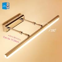 [DBF]Length Adjustable 40cm 50cm 9W 12W LED Mirror Light Stainless Steel AC85 265V Modern Wall Lamp Bathroom Lights Wall Sconce