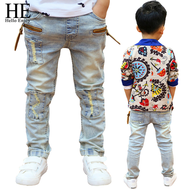 HE Hello Enjoy boys pants jeans spring kids pants boys girls baby jeans children jeans boys casual denim pants toddler clothing