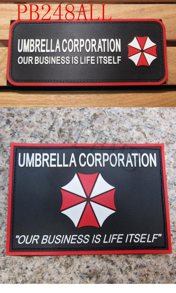 Nice Resident Evil Series Umbrella Corporation Pvc Badge Rubber Badges 3d Patch Applique For Clothing Cap Accessories Home & Garden Apparel Sewing & Fabric