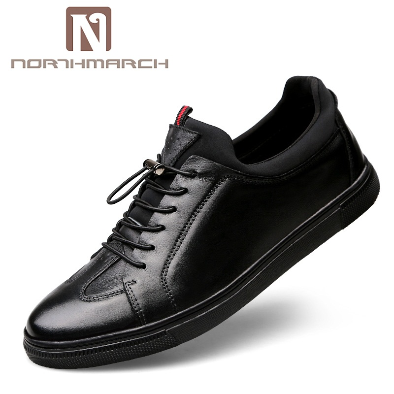 NORTHMARCH Big Size Flats Shoes High Quality Genuine Leather Men Casual Shoes Fashion Breathable Male Shoes Leather Men Flats 2018 hot sale men shoes suede leather big size high quality fashion men s casual shoes european style mens shoes flats oxfords