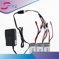 NOUS/Chine plug chargeur 1to3 câble 2016 Vente Chaude 7.4 V 1000 mAh 25C WLtoys V912 V915 Batterie Amélioré pour RC Multicopter Gros