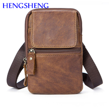 Hengsheng hot selling genuine leather men chest bag with top quality cow leather male chest bag