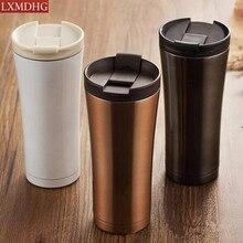 500 ml Doppelwand Aus Edelstahl Kaffeetasse isolierung Tee Bechermilchschale Auto Wasserflasche Thermocup Hohe qualität