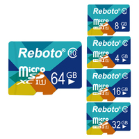 Reboto Micro SD Card Mini Sd Card Tf Card 4GB 8GB 16GB 32GB 64GB Memory Card