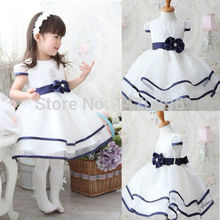 Baby Girls Princess Party Bowknot White Formal Gown Tutu Dress