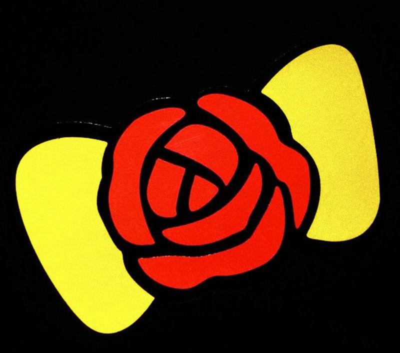 Flower BOW TIE Decor Sticker Car Auto Window Vinyl Decal Laptop Cute Girlie Gift 3inX5in