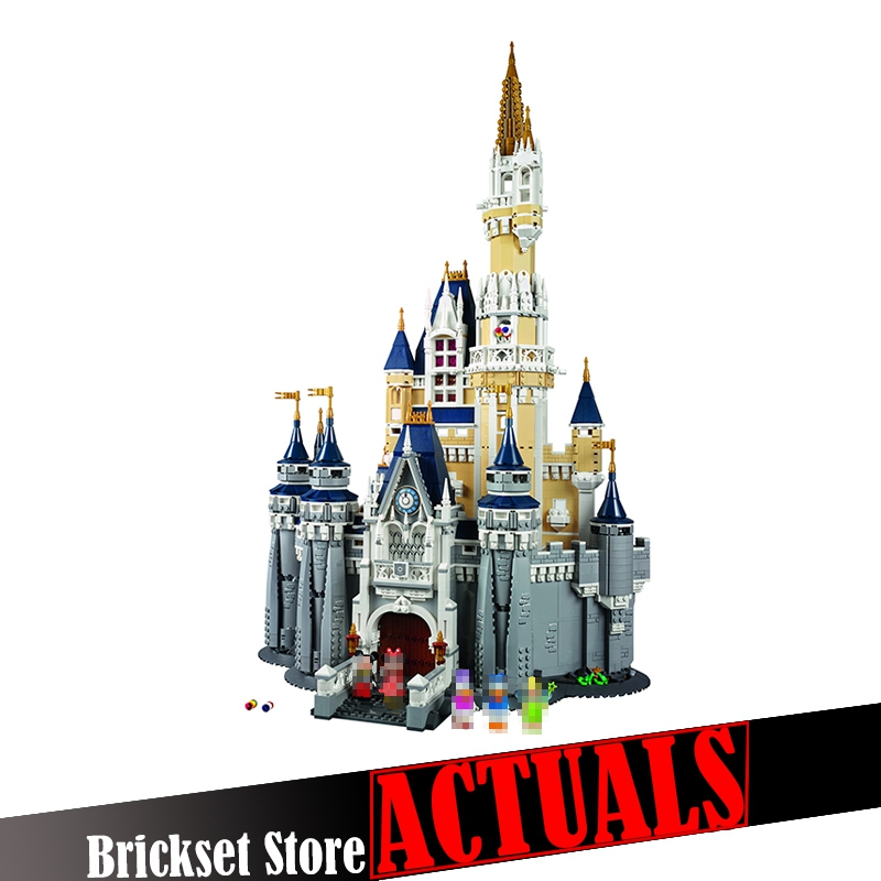 LEPIN 16008 Creative Movies The Cinderella Princess Castle Set Model Building Block Brick Educational Kid Toys For Gifts 71040 loz mini diamond block world famous architecture financial center swfc shangha china city nanoblock model brick educational toys