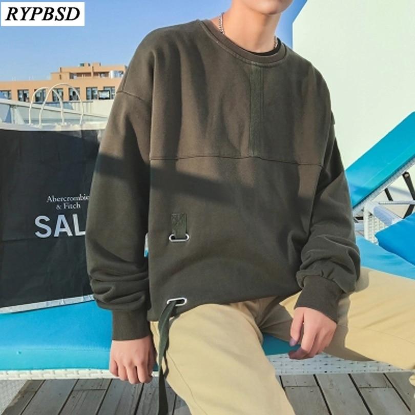 Hip Hop Hoodies Men Hoody Streetwear Mens Sweatshirts Oversized Men Tracksuit Fashion Men Pullover Hoodie Black Army Green