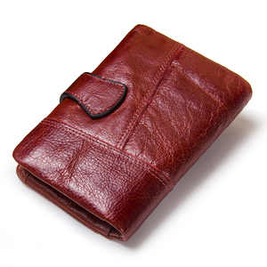 Image 4 - 뜨거운!!! 정품 가죽 여성 지갑 여성 작은 카드 홀더 돈 가방 레이디 Perse 여자 동전 지갑 Portomonee Rfid Walet