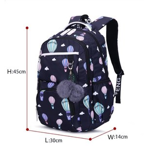 Image 3 - FengDong cute school bags for teenage girls korean style school backpack for girls fur ball decoration children bag girl gift
