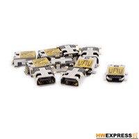 HWEXPRESS Hot 10 Pcs Female Mini USB Type B 10 Pin SMT SMD Mount Jack Connector