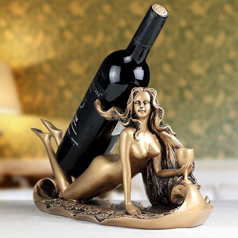 Sexy Goddess Wine Rack Vintage Home Decor Bar Decoration Wine Holder Grape Wine Bottle Holder