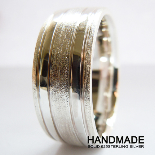 Wellmade 10mm Mens Solid Sterling Silver Wedding Band Ring