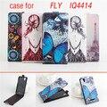 5 Tipo de Caso Pintado FLY IQ4414 Genuíno Caso de Couro Capa Do Flip para a mosca iq 4414 evo tecnologia 3 sacos tampa do telefone da pele Shell