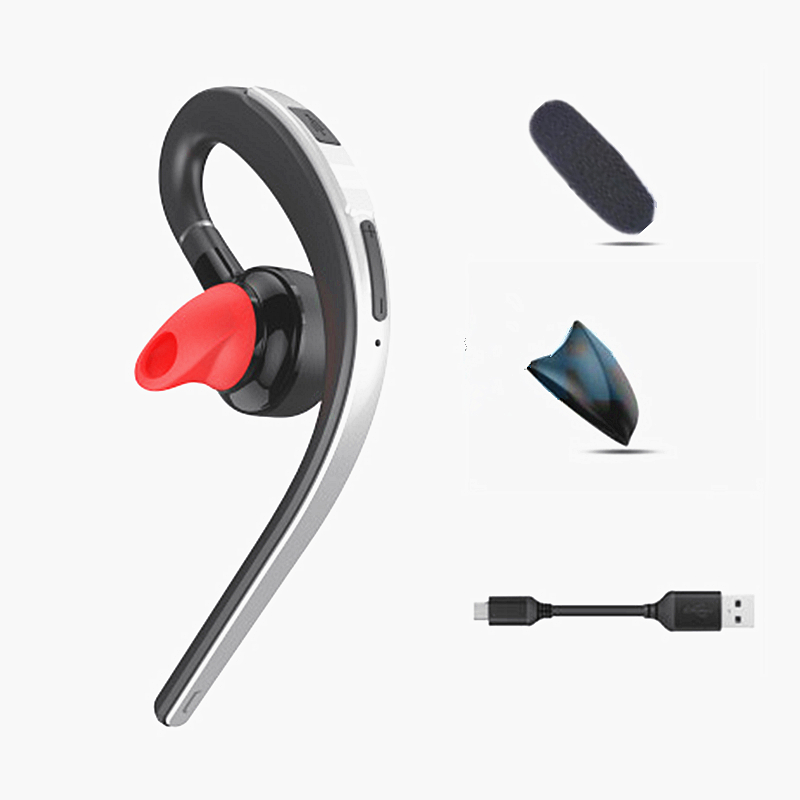 KJIMY Voice Control Wireless Bluetooth Headsets Handsfree Business Earphone with Mic HD Stereo Music Headphone for Phone V4.1
