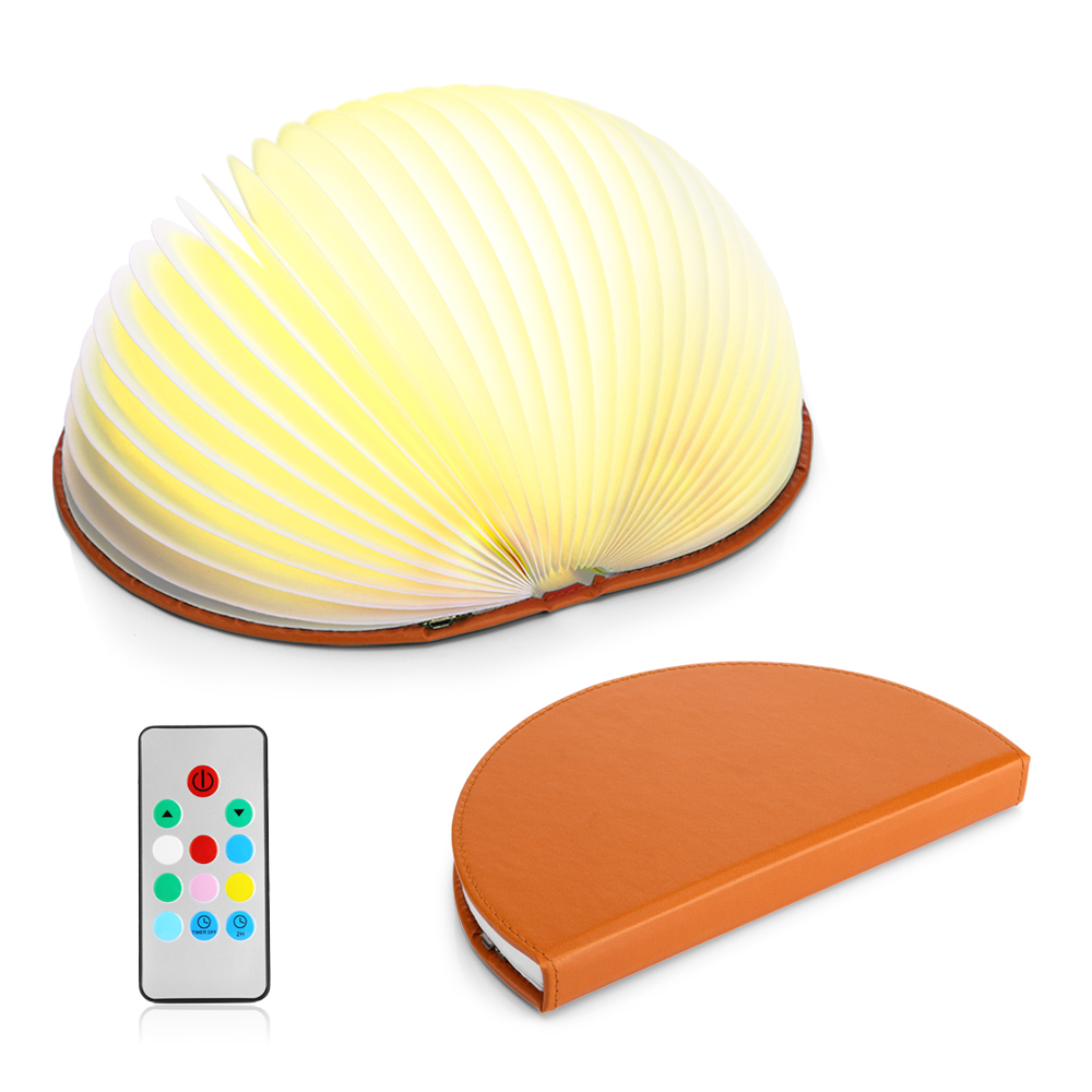 7 Colors! Original Semicircle Book Lamp Remote Control For Atmosphere Illumination Rechargeable Decoration