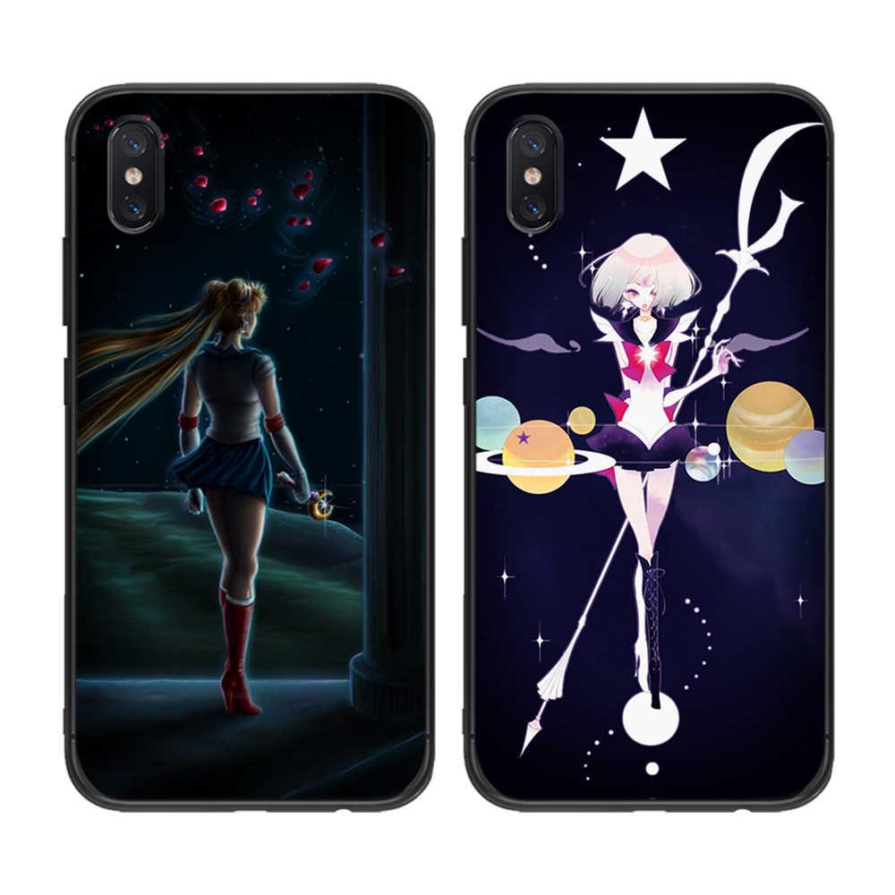Sailor moon tpu macio para xiaomi redmi mi6 8 9 a1 a2 f1 plus caso redmi 5/5 plus m8 lite silicone caso de volta do telefone