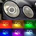 Для Mercedes Benz e class w211 2003-2009 Отлично Ангел Глаза комплект Multi-Color Ultrabright 7 Цветов RGB ПРИВЕЛО Angel Eyes комплект