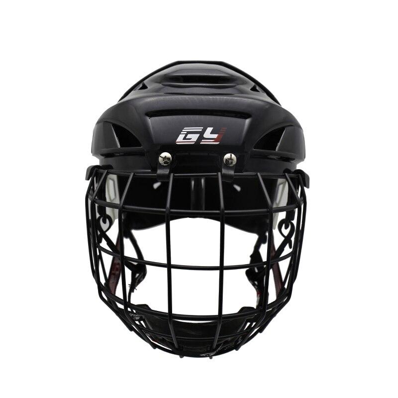 цена на 2018 Free shipping hot sales ice hockey helmet with A3 steel mask field hockey helmet hockey cage combo For sale GY-PH9000-C2