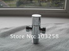 "10pcs/lot Top Quality Toilet / Bathroom / Restroom Chromed Brass Angle Valve 3 Ways Copper T adapter G 1/2""  + G 1/2""+G 1/2"""