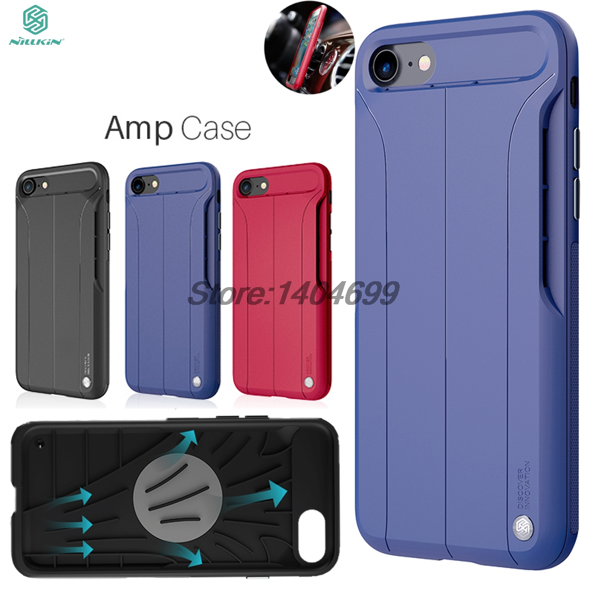 sFor iPhone 7 Case Nillkin Creative Series Car Magnetic Suction Embedded Iron AMP Case For iPhone 7 Back Cover