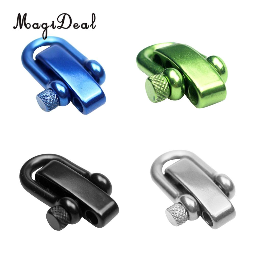 MagiDeal Stainless Steel U Flat Adjustable Shackle Buckle Clasp For Survival Paracord Bracelet Making Tools