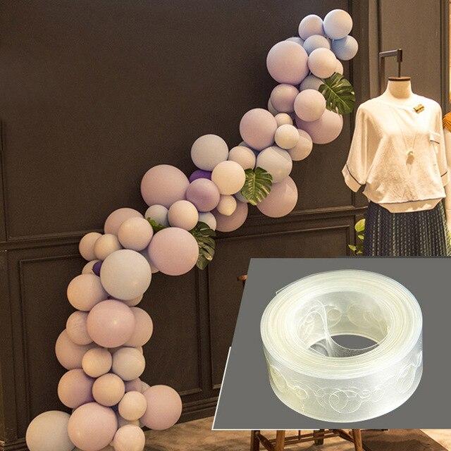 DIY Ferramenta de Modelagem de Balões De Látex Balão De Plástico Cadeia 5 M Balão Tie Botão Ferramenta Decoração Do Casamento da Festa de Aniversário Suprimentos