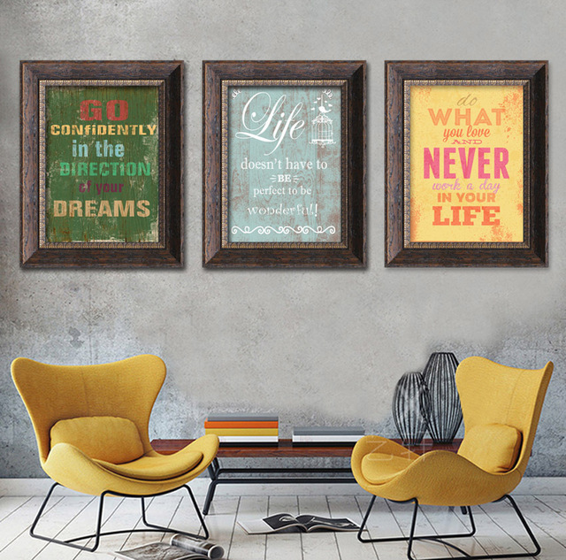 Fashion Quotes Words Canvas Painting Print Poster Wall Pictures For