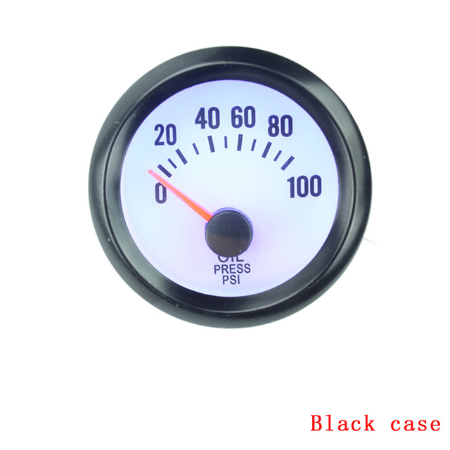 free shipping Oil Press Gauge black Oil Pressure Gauge 2' inch 52mm for Auto Gauge Car Styling Instruments Oil Pressure Sensor