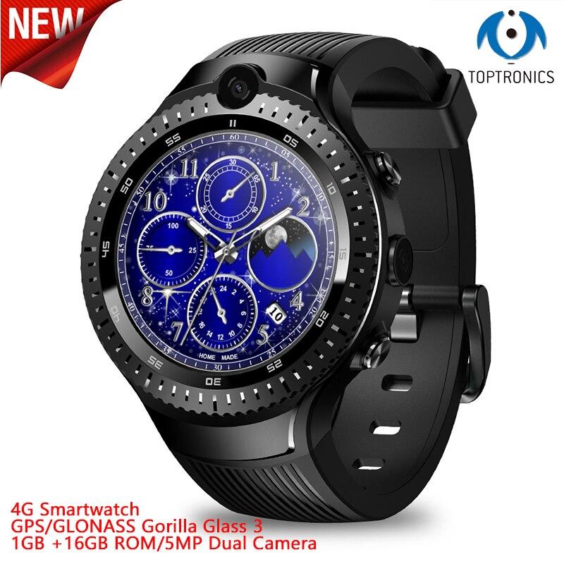 2019 Новое поступление Toptronics 4G умные часы 1 г + 16 ГБ rom 5MP двойная камера gps/ГЛОНАСС wifi часы умные часы мужские Тор 4 Dual