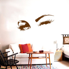 Wall Decal Beautiful Charming eyes Lashes Wink Decor Art Mural Vinyl Stickers Interior Design Bedroom Sticker