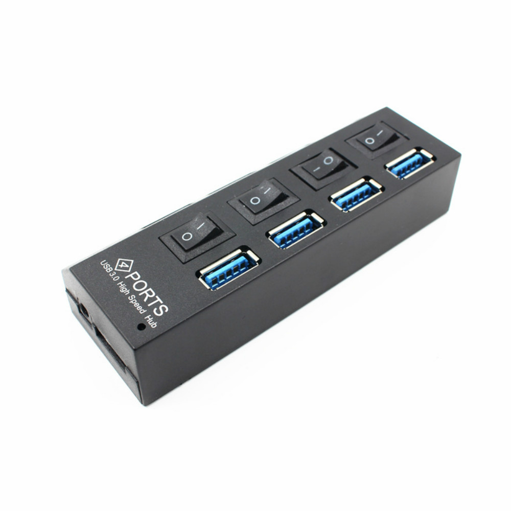 Image 5 - 4 Port Micro USB Hub 2.0 USB Splitter High Speed 480Mbps USB 2.0 Hub LED With ON/OFF Switch For Tablet Laptop Computer Notebook-in USB Hubs from Computer & Office
