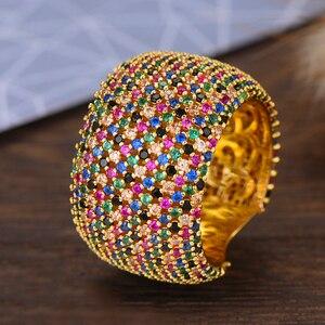 Image 3 - Godki luxo zircônia cúbica anéis de casamento para mulheres nupcial noivado casamento jóias cz femmale acessórios dedo inteiro anéis
