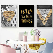 Abstract Geometric Combination English Phrase Canvas Art Painting Print Poster Picture Wall Bedroom Home Decoration