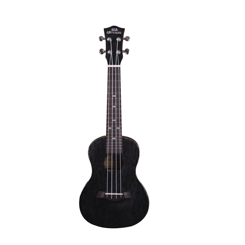 23 Inch Black Mini Acoustic Electric Technical Wood Ukulele Full Mahogany 18 frets Guitar Fineline Four Strings small Guitar tenor concert acoustic electric ukulele 23 26 inch travel guitar 4 strings guitarra wood mahogany plug in music instrument
