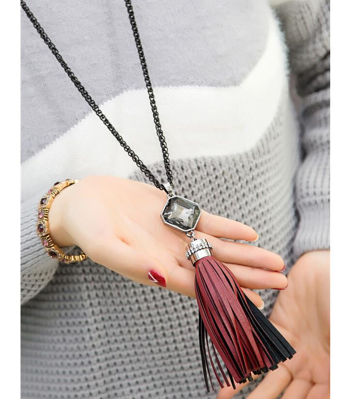 New Tassel Necklaces 4 Types Jewelry Sweater Chain Long necklace for Women Christmas Day New Year Gift
