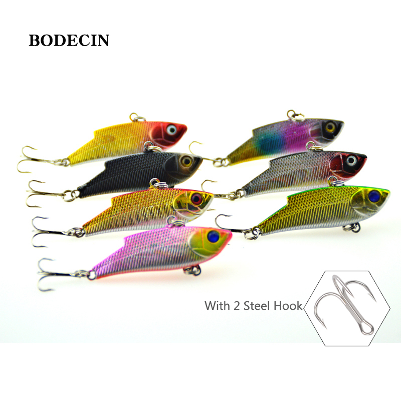 7pcs Sinking VIB Fishing Lure Wobbler Laser Lure Fake Artificial Bait With Hooks Peche For Trout Tackle 3D Fish Eyes Sea Bass 4pcs fishing lure minnow wobblers hard bait with hook artificial lures for pike sinking peche tackle wobbler sea 13cm fish set