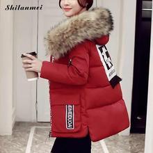 2017 Plus Size Women Warm Winter Collection Coat Jacket with Fur Hoodies Woman Parkas Female Overcoat Cotton Outerwear