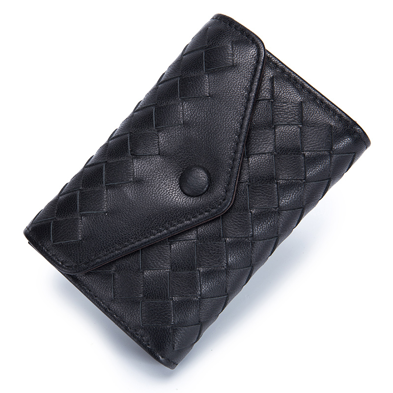 Luxurious Sheep Skin Envelope Style Card Wallets 2018 New Arrivals Hot Brand Multi-function Soft Knitting Credit Card Holders