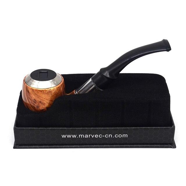 Elektronische sigaret Authentieke Marvec E-Pijp 450mAh 10W vape Kit 2ml Oplaadbare houten stijl mod kit