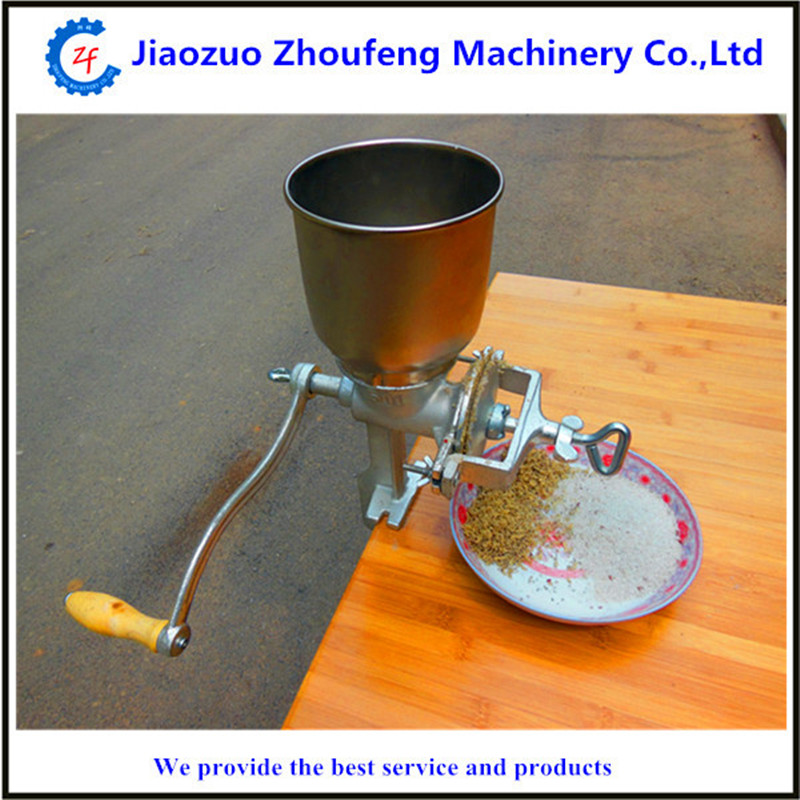 купить Manual poppy and grain seeds mill machine classical table top mounted corn nuts spice grinder ZF онлайн