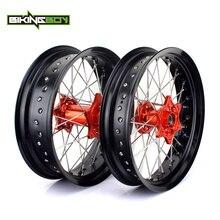 "BIKINGBOY 17 ""Supermoto Wheel Rim Hub Per KTM EXC MXC SX XC W XC G XC F EXC F SXS SXS F 125 200 250 300 400 450 500 505 525 535"