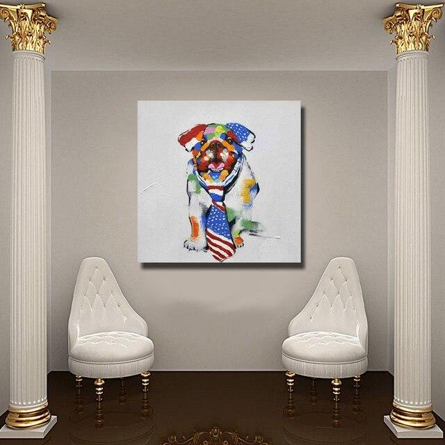 23 06 49 De Réduction Chinois Pet Chien Mur Art Non Encadrée Ou Avec Encadrée Moderne Peinture Murale Pour Chambre Décor De Haute Qualité Pas Cher