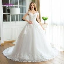 Fsuzwel Chapel Train A-Line Wedding Dress 2019